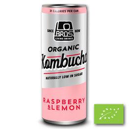 Lo Bros Kombucha Raspberry & L. BLIK BIO (24x250ml)