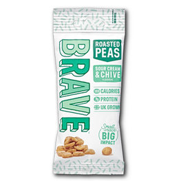 Brave Roasted Peas Sour Cream & Chive (12x35gr)