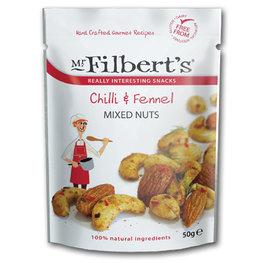 Mr Filberts Mixed Nuts Chilli & Fennel (12x50gr)