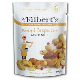Mr Filberts Mixed Nuts Honey & Pepperc. (12x50gr)