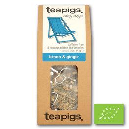 Teapigs Loose Pyramids Lemon & Gingr BIO (6x15st)