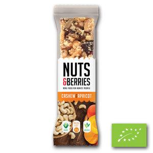Nuts & Berries Bar Cashew & Apricot BIO (15x30gr)